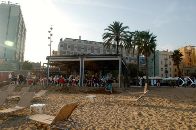 La Barceloneta on the beach