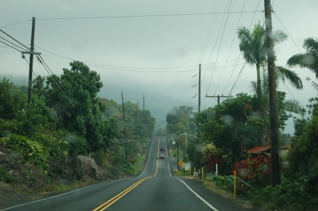 Road south from Kona