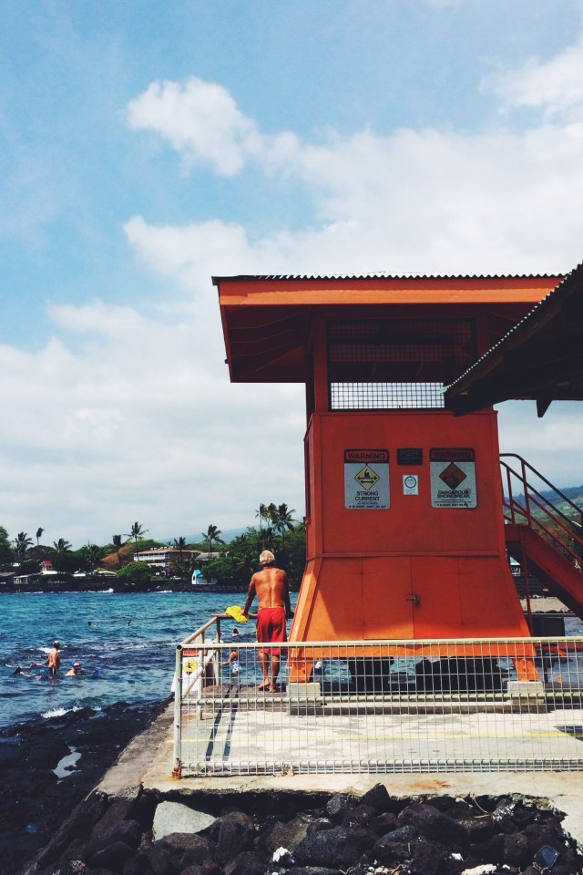Lifeguards watch over Kahalu'u