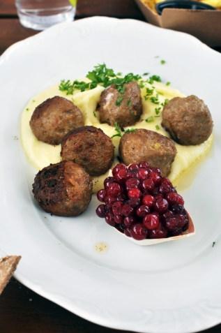 Swedish meatballs and fresh lingonberries at Fiskekajan Baståd Harbor | See Tiny Torekov Sweden and explore Skåne | Oregon Girl Around the World