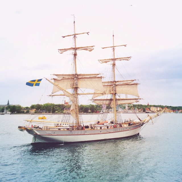 Tall ships float by our Boatel - Stockholm