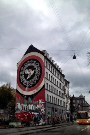 Devolution of Shepard Fairey's mural where it sits in Nørrebro neighborhood of Copenhagen when we first moved here in November, 2014