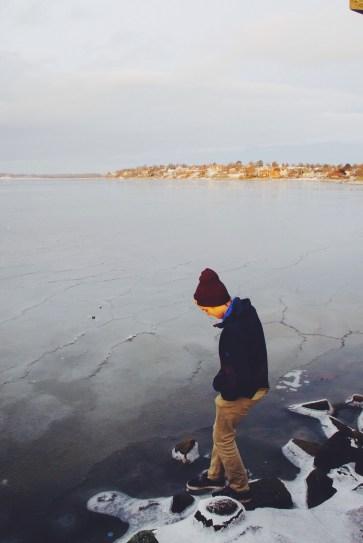 Roskilde Fjord frozen