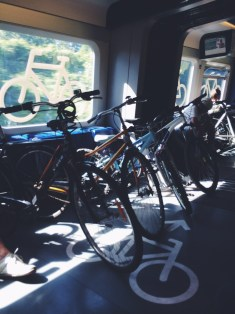 They have train cars for bikes