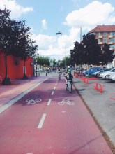 Bike lanes in Nørrebro