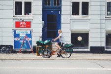 Mail delivered by bike in Copenhagen