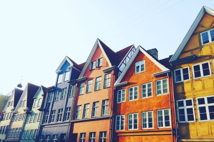 Fall coloured homes in Copenhagen