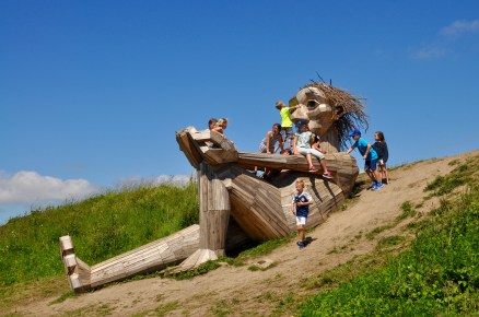 Kids on Giant Sculpture Denmark | Erin Gustafson | Oregon Girl Around the World