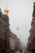 Russian Orthodox Church Copenhagen Denmark Fog