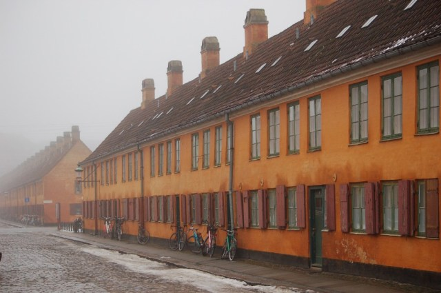 Copenhagen Denmark Houses in Fog