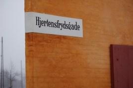 Hjertensfrydgade Copenhagen Denmark street sign