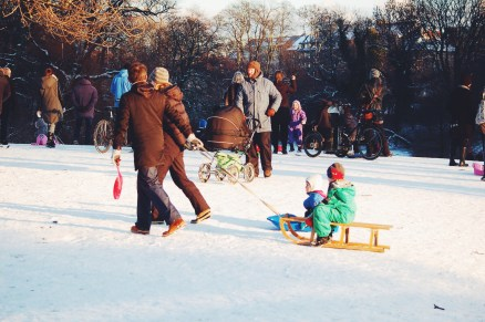 Sledding at Statens Museum Copenhagen
