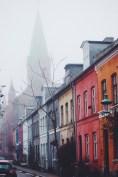 Copenhagen Denmark Church Fog Street