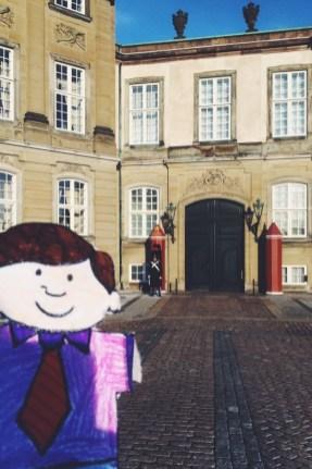 Flat Stanley Amalienborg Castle Slot Copenhagen Denmark