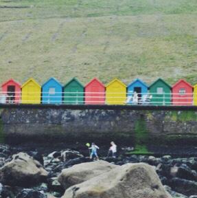 Whitby, Yorkshire, UK beach chalets, seaside