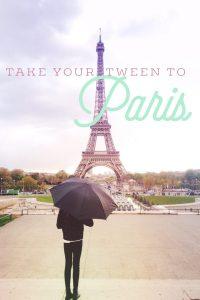 Travel tween family Paris France Eiffel Tower Oregon Girl Around the World