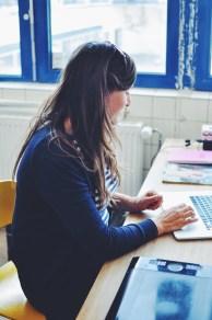 Mai-Britt Amsler at work