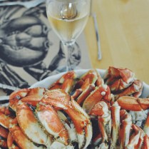 Oregon Dungeness crab ready to eat