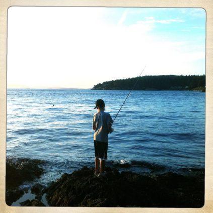 Fishing on San Juan Island, Washington State