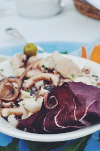 Octopus Salad at Kapetanova Kuca, Mali Ston, Croatia