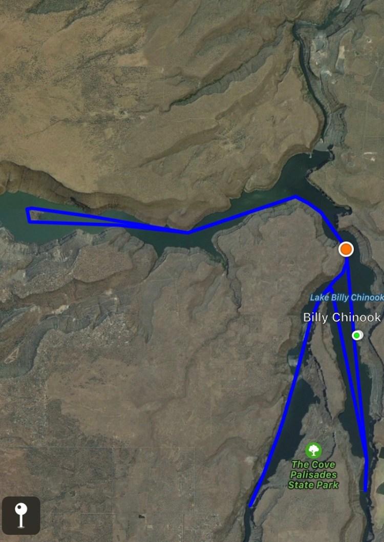 Lake Billy Chinook Map : billy, chinook, Swimming, Billy, Chinook, Oregon, Bagging