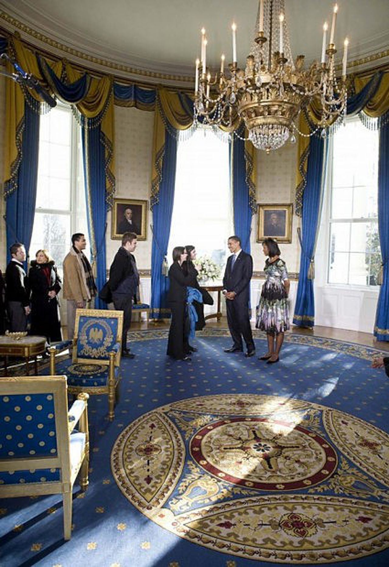 White House Blue Room : white, house, Trump, Family's, Penthouse, White, House, Oregonlive.com