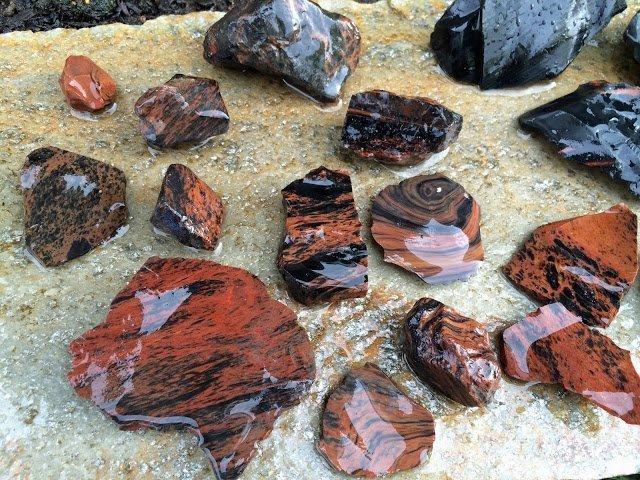 Glass Buttes Obsidian in Oregon