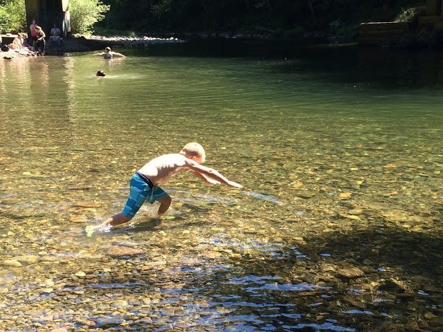 Fall Creek near Eugene, Oregon, is perfect for swimming