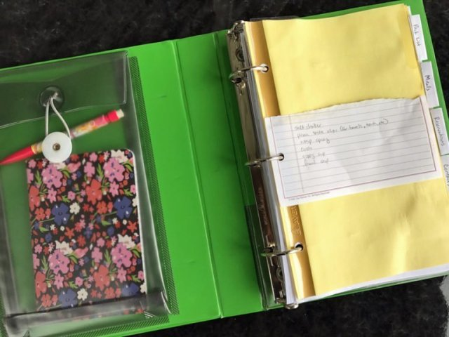 Camping Notebook with a pocket