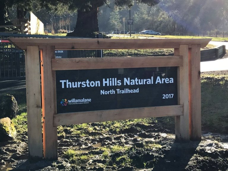 Thurston Hills Natural Area new hiking trail in Springfield, Oregon.