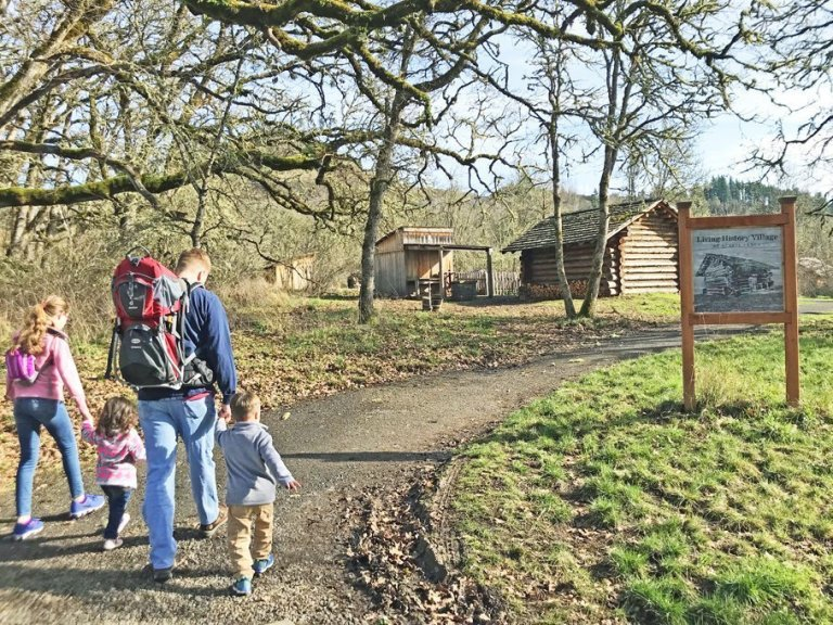 Willamalane Path - Living History Village off the Middle Fork trailhead at Dorris Ranch