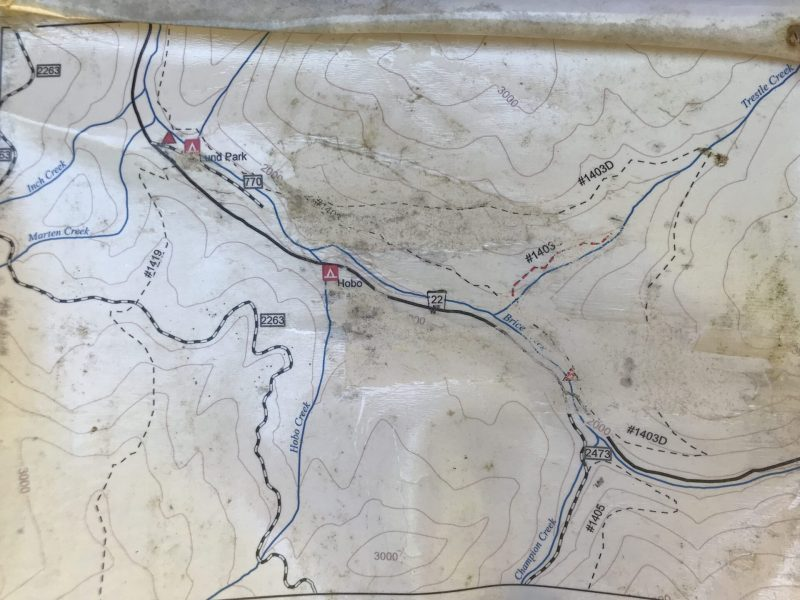 Map of Trestle Creek Trail