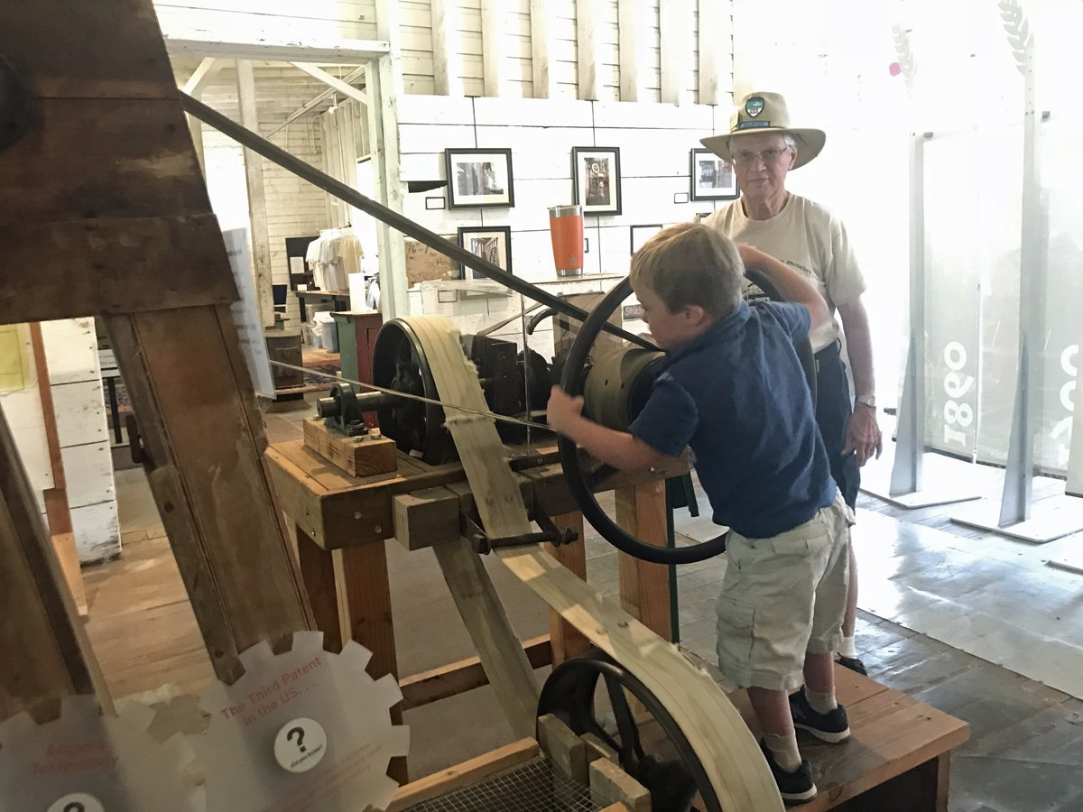 Interactive museum exhibits at Thompson's Mill