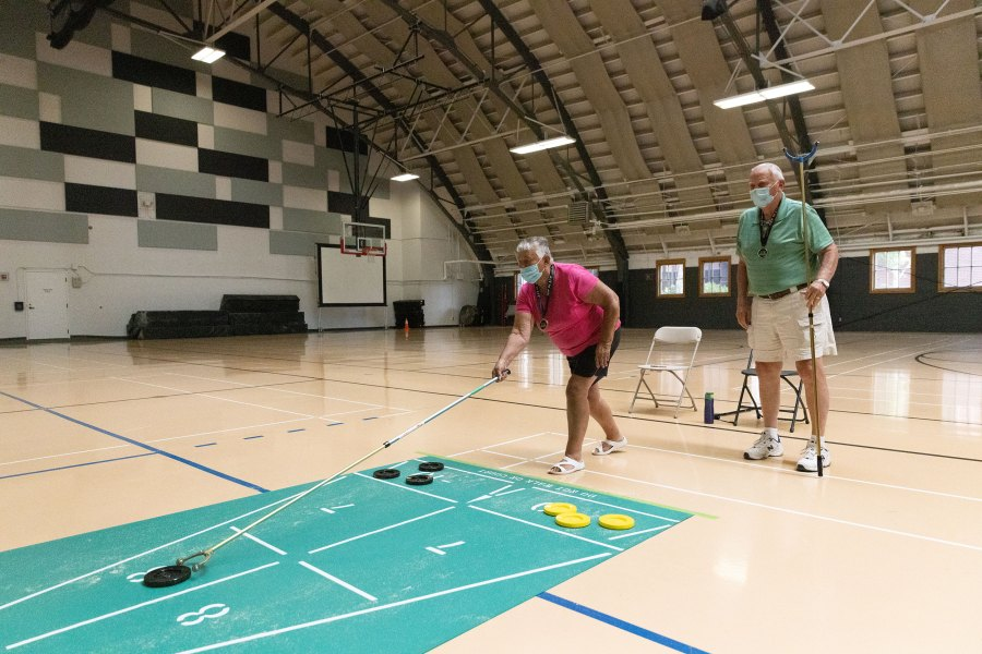 2021 Oregon Senior Games - Shuffleboard - Amanda Loman