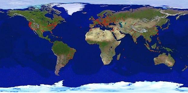 World Map Snip