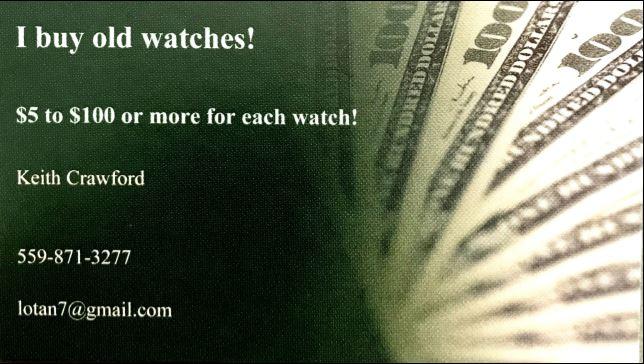 I buy watches