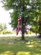 Memorial Day in the cemetery