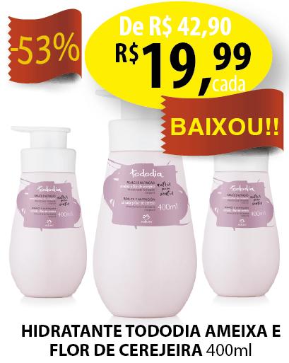 Desodorante Hidratante Corporal Ameixa e Flor de Cerejeira Tododia – 400ml