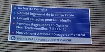 Le FRONT, rue Drolet, à Montréal, 2009