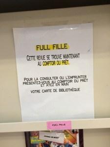 Bibliothèque de Cartierville, 7 février 2015