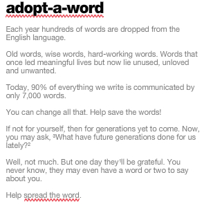 Save the Words