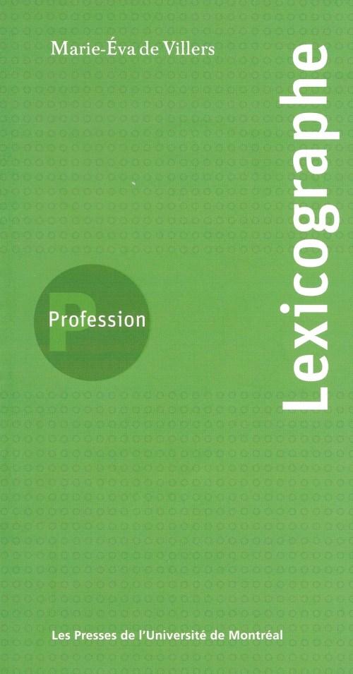 Profession lexicographe, 2005, couverture