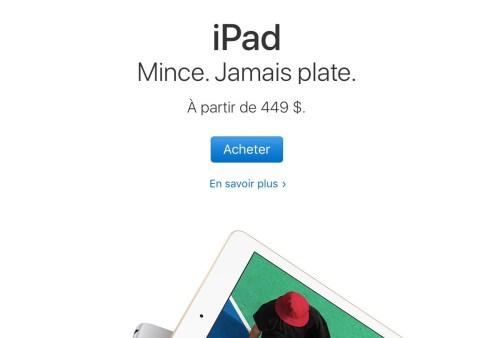 Apple, publicité pour iPad, mars 2017