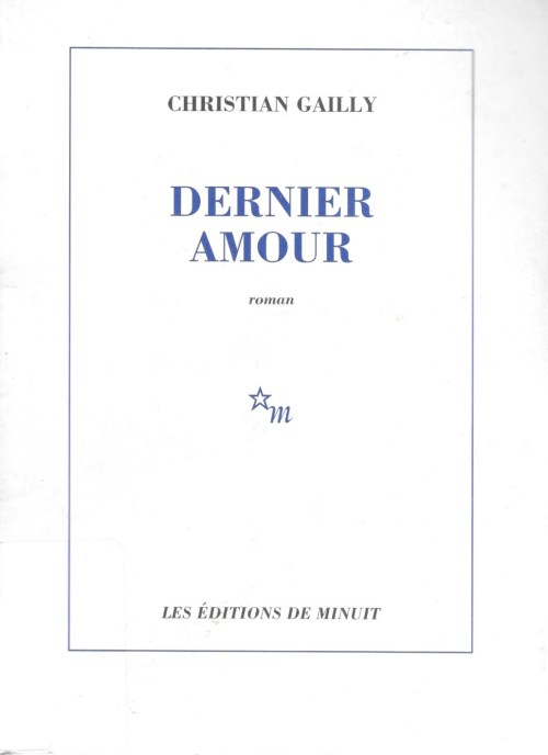 Christian Gailly, Dernier amour, 2004, couverture