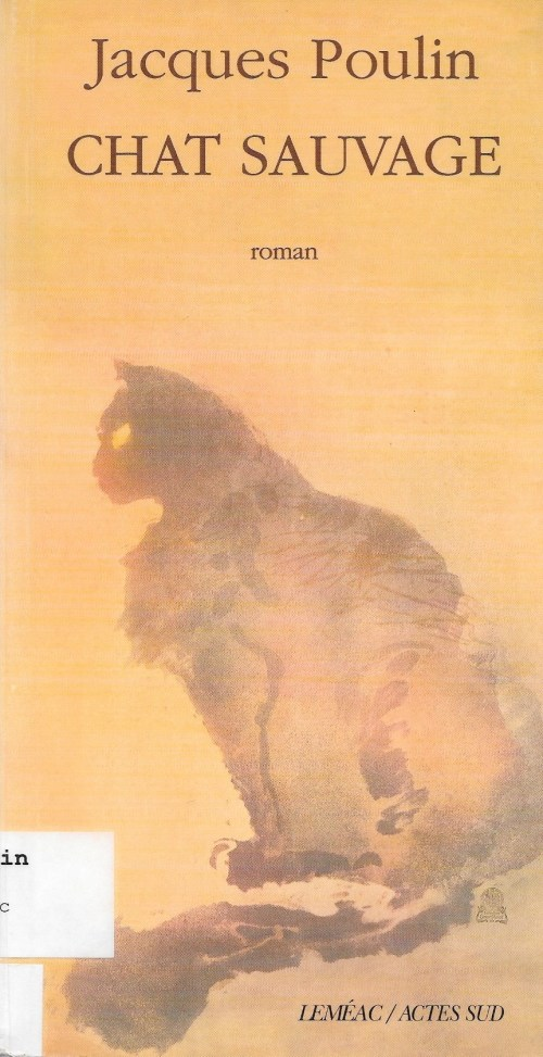Jacques Poulin, Chat sauvage, 1998, couverture