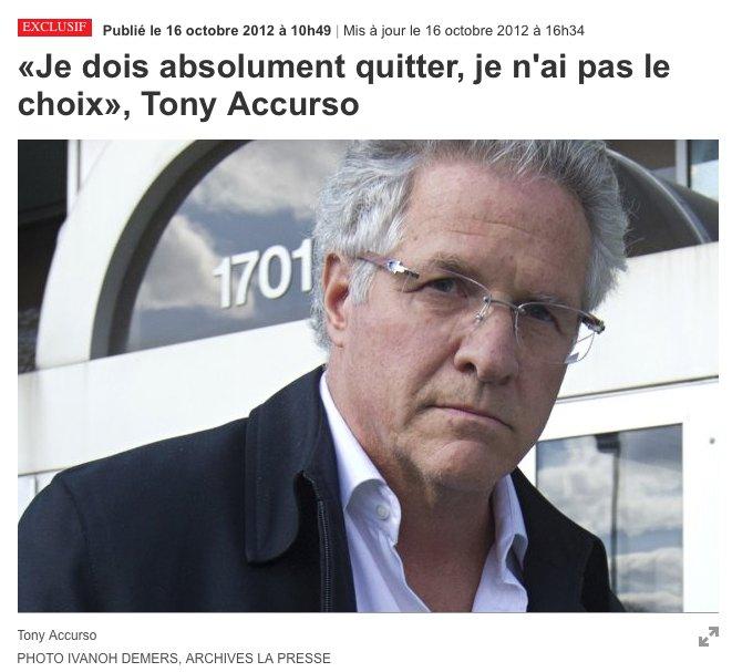 Tony Accurson «quitte»