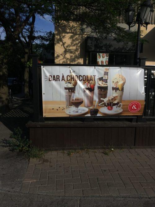 Bar à chocolat, avenue Monkland, Montréal, août 2019
