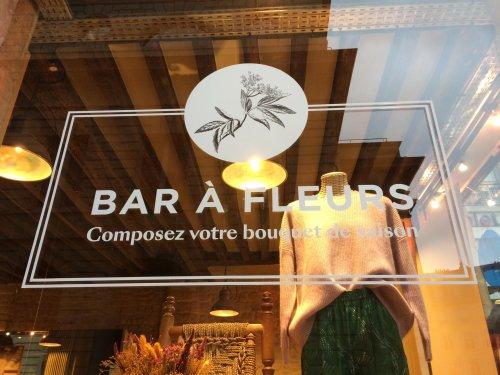 Bar à fleurs, Paris, octobre 2019
