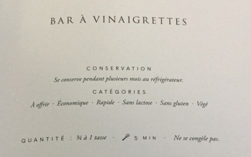 Bar à vinaigrettes