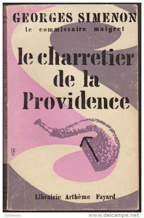 Georges Simenon, le Charretier de la «Providence», couverture